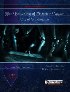 Cover for the Breaking of Forstor Nagar Pathfinder D&D adventure