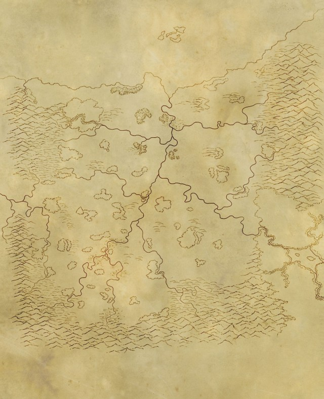 A map of the fantasy kingdom of Thulaan for the pathfinder campaign I'm playing in