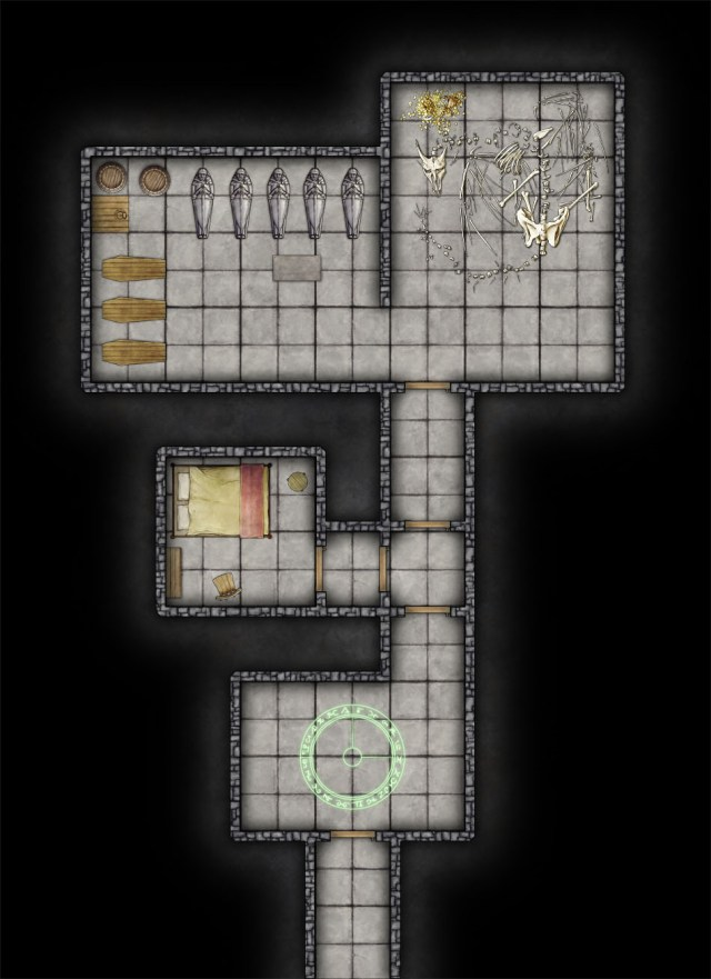 Free Dungeon Map With Jonathan Roberts Profantasy Dungeon Style