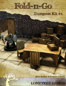 Folding fantasy dungeon tiles
