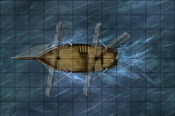 Pinnace ship map for fantasy map pack