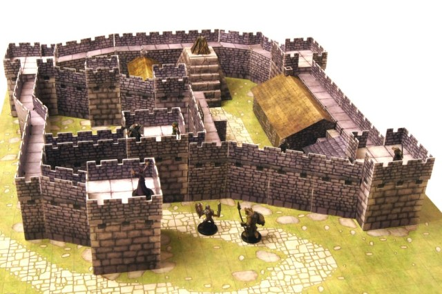 The Watchfire Keep, a fantasy castle created with Castle Kit 1 from Lone Tree Games