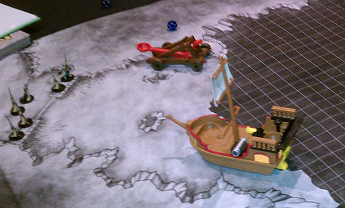 The Ice Bridge map in use at Gen Con
