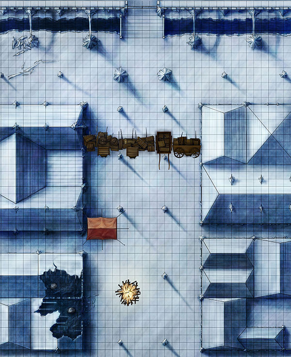 Siege at the city gates fantasy map pack illustration for pathfinder and 4e D&D