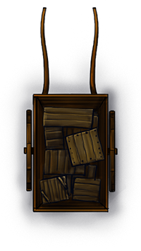 Wagon illustration for fantasy city map pack