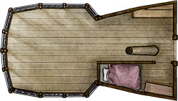 Preview of the aft deck for fantasy pirate map pack