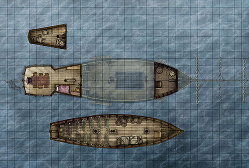 Pirate Ship Map