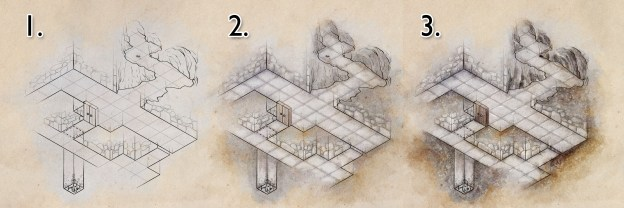 How to Draw a Dungeon Map. Part 2: Colour