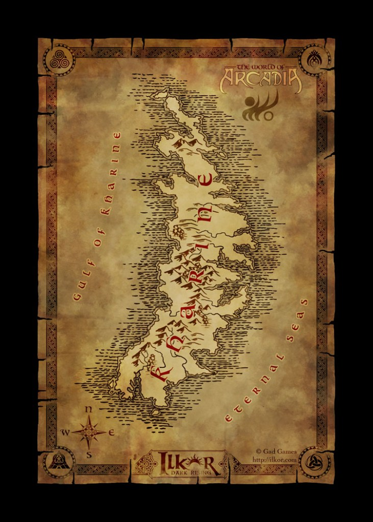 A world map of the continent of kharine for the fantasy browser a world map of the continent of kharine for the fantasy browser game ilkor dark rising gumiabroncs Choice Image