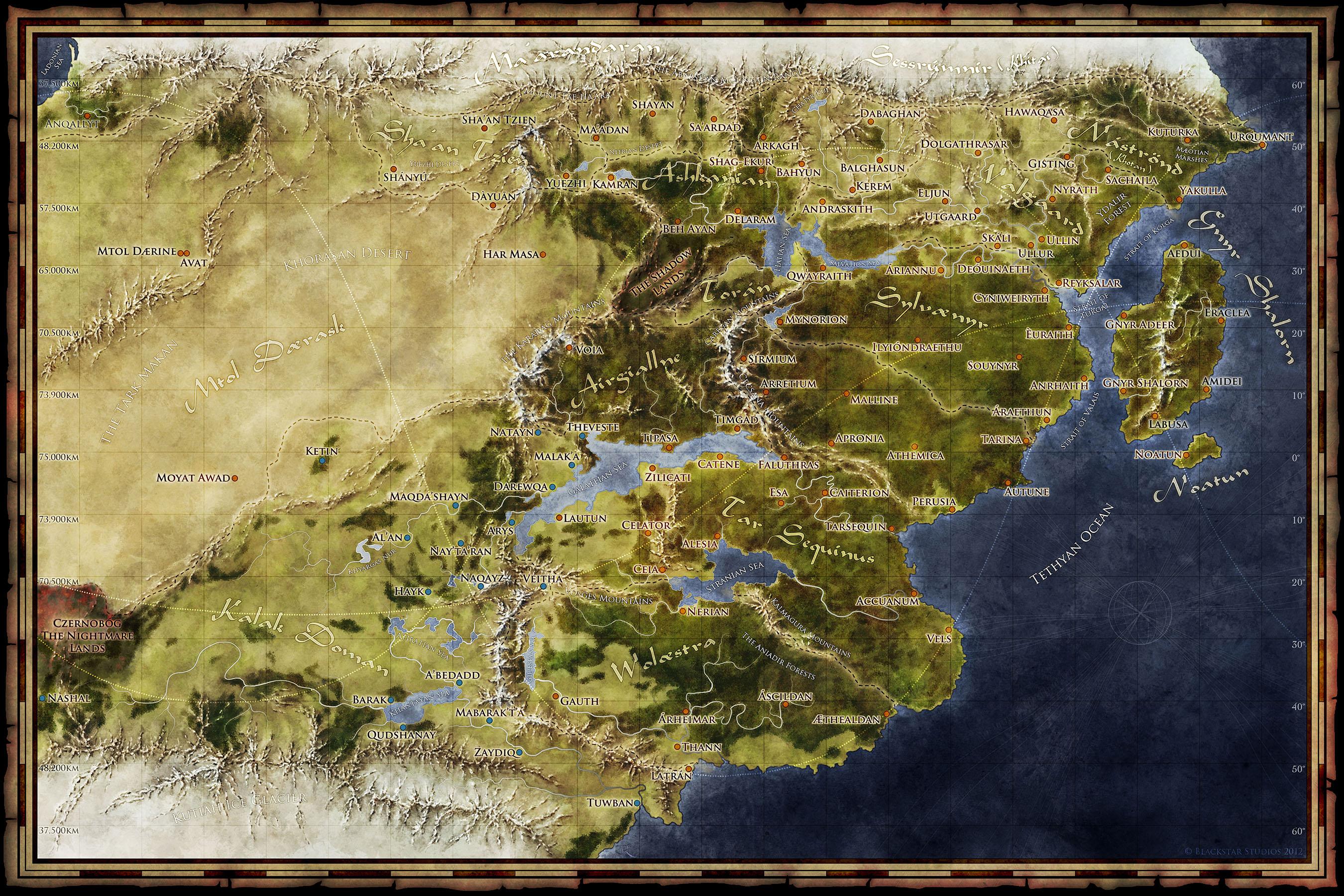 unlabeled fantasy world map The Fantasy World Map Of Saemyyr Fantastic Maps