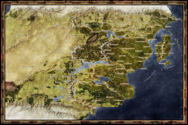 The fantasy world map of Saemyyr Fantastic Maps