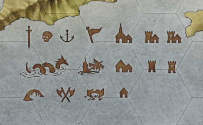 Icons for treasure island