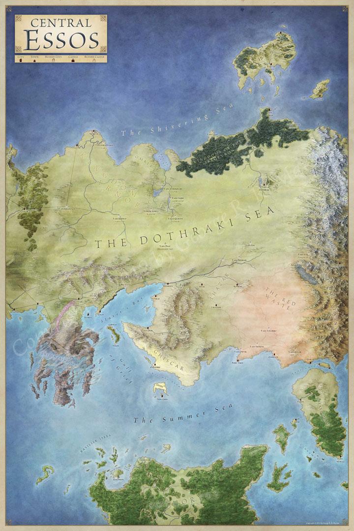 Central Essos - Fantastic Maps