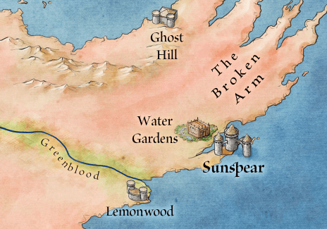 Dorne from the map of Westeros