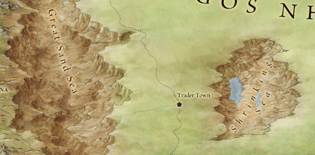 Great Sand Sea from the official maps of Essos