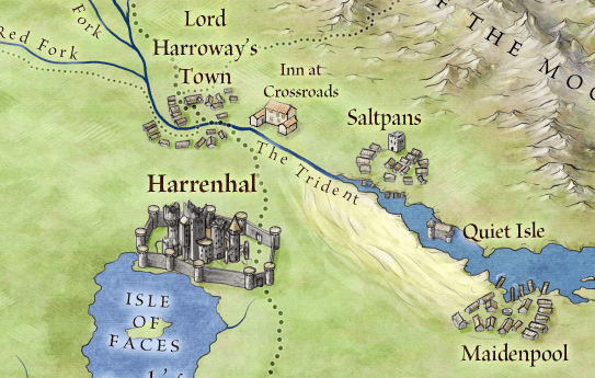 Harrenhal from the Official map of Westeros