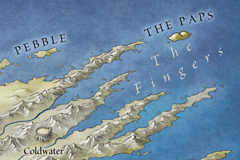 The Paps from the official map of westeros and the seven kingdoms