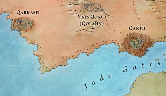 Qarth from the Slaver's Bay map for Game of Thrones