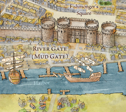 Kings landing fantastic maps the mud gate from the official map of kings landing for game of thrones gumiabroncs Choice Image