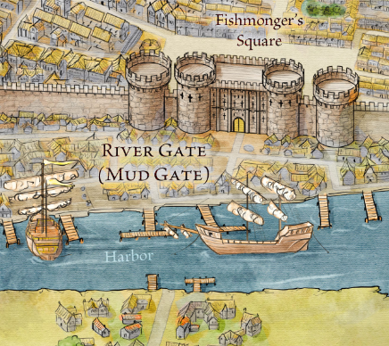 The Mud Gate from the Official Map of King's Landing for Game of Thrones