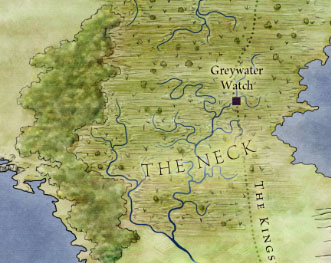 The Neck from map of The West for Game of Thrones