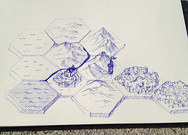 First hex mapper sketch