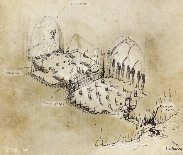 D&D Dungeon Maps from Game Night at Tor.com