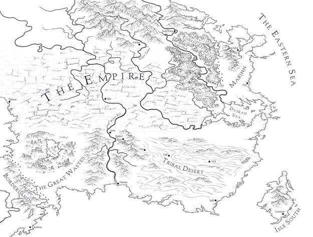 An Ember in the Ashes world map sketch
