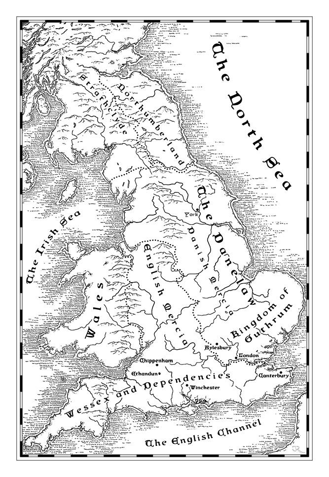 Map of Britain under Danelaw