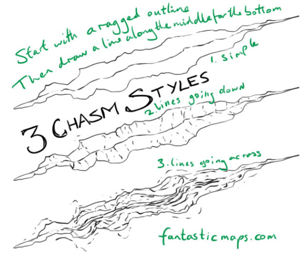 How To Draw A Chasm On A Map Fantastic Maps