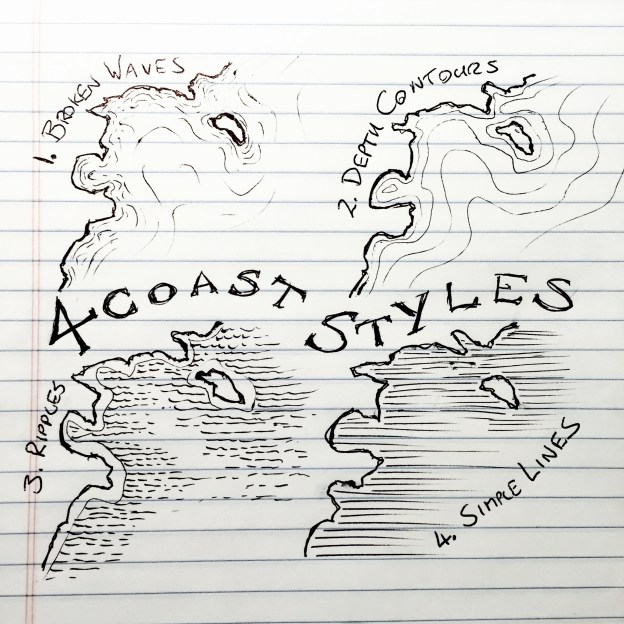 4 Coastal Styles for mapmaking