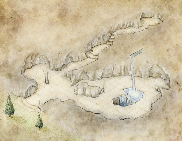 Unlabeled free high resolution cavern map