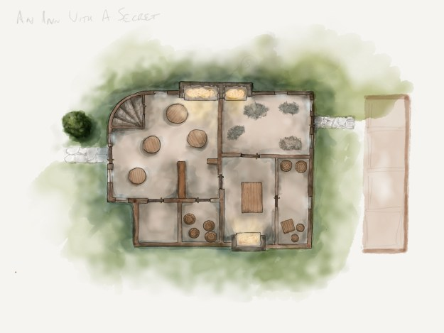 Unlabeled Inn Map free for personal use.