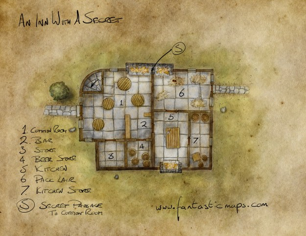 A Map of an Inn created in Procreate with Pencil on the iPad Pro