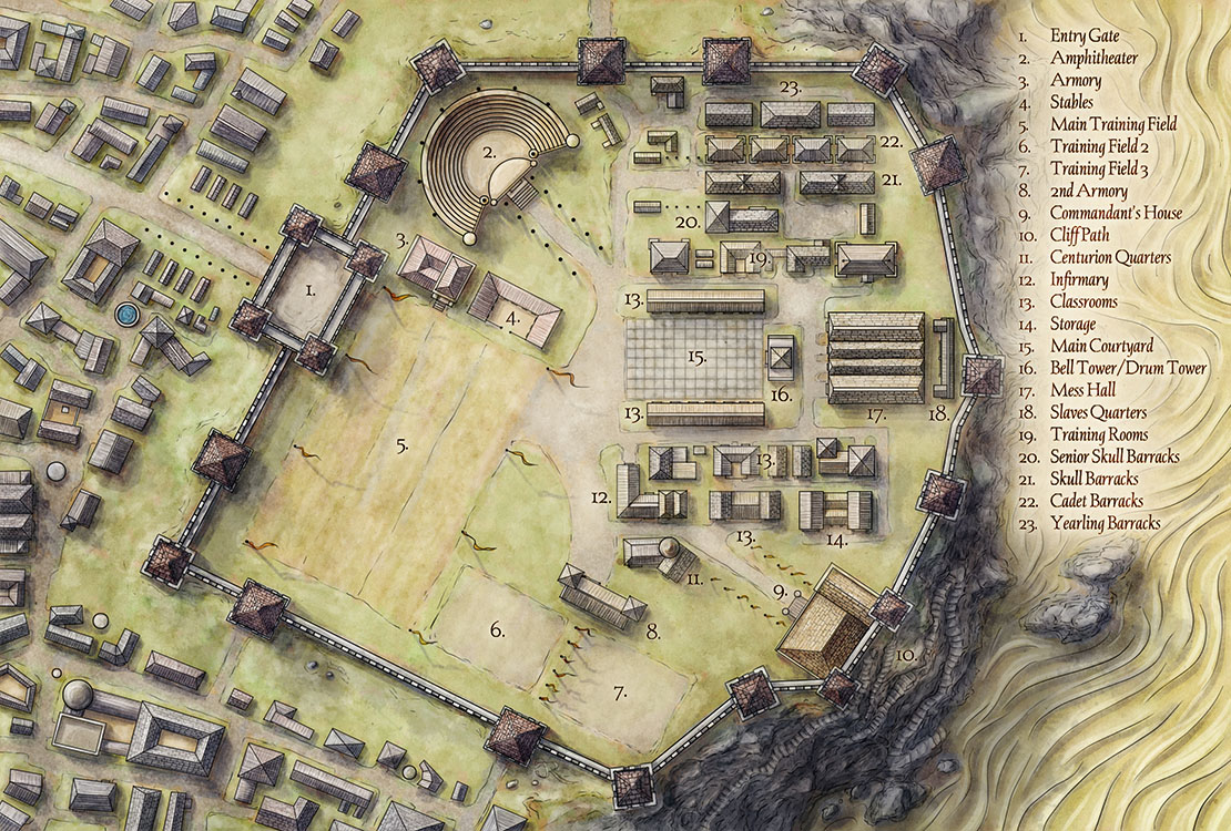 Mapping Blackcliff Academy for An Ember in the Ashes   Fantastic Maps