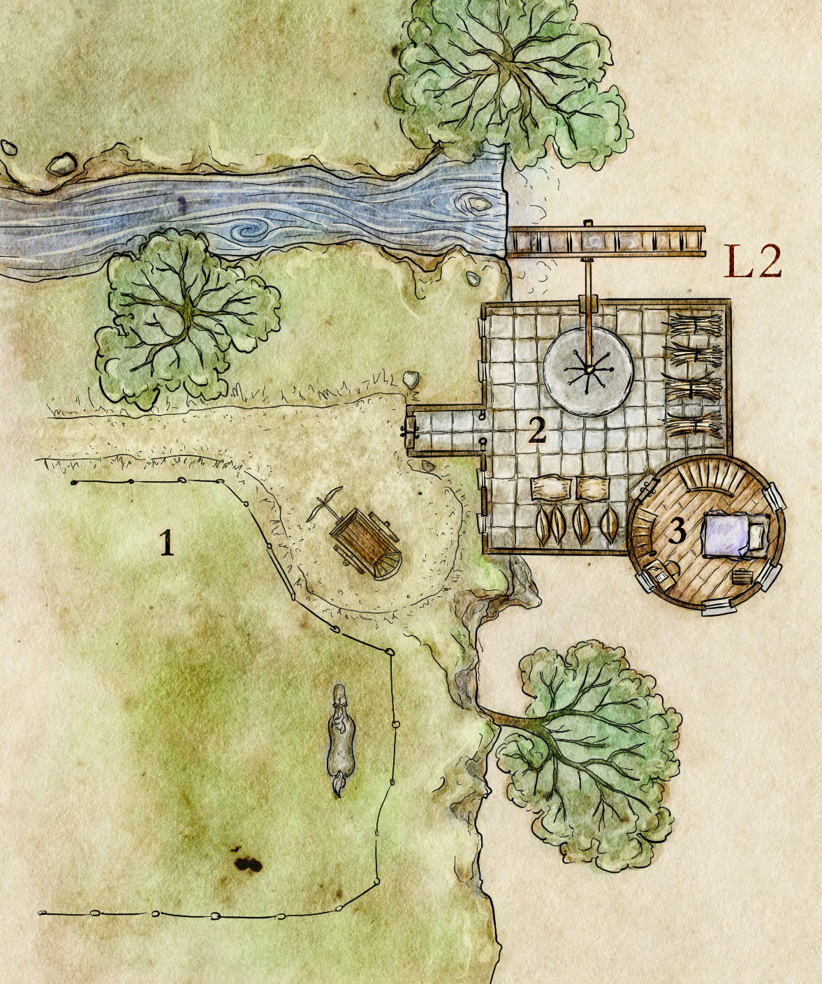 The Arcanist's Mill - A Wizard's Tower Map with a Twist
