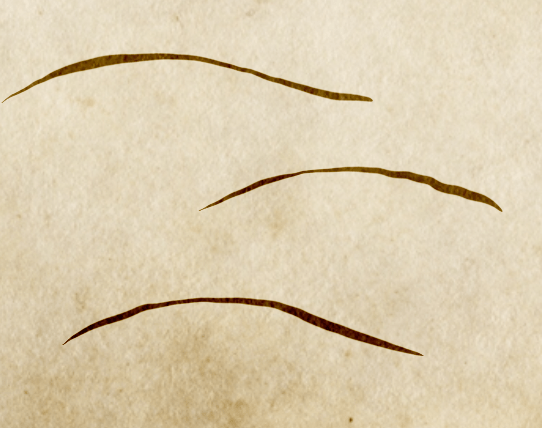 A simple hill shape indicates hills on a Middle Earth style map