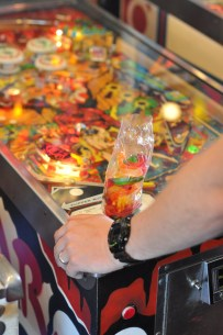 Gummies and pinball? Jon is in heaven.