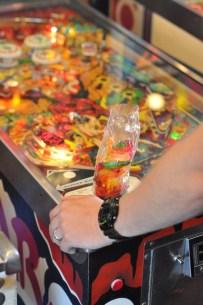 Gummies and pinball? Jon is in heaven.