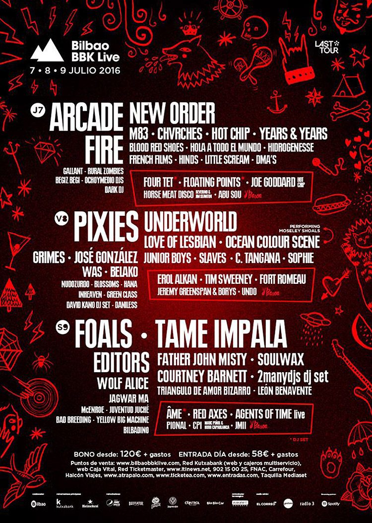 Bilbao BBK Live 2016 cartel