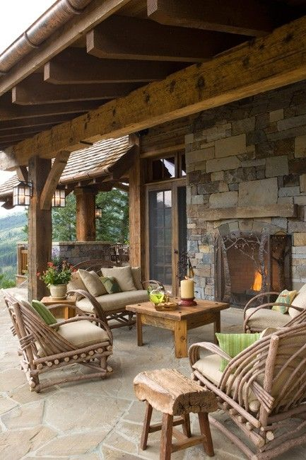 16 Awe-Inspiring Rustic Patios That Will Be Your Favorite ... on Cozy Patio Ideas  id=29558