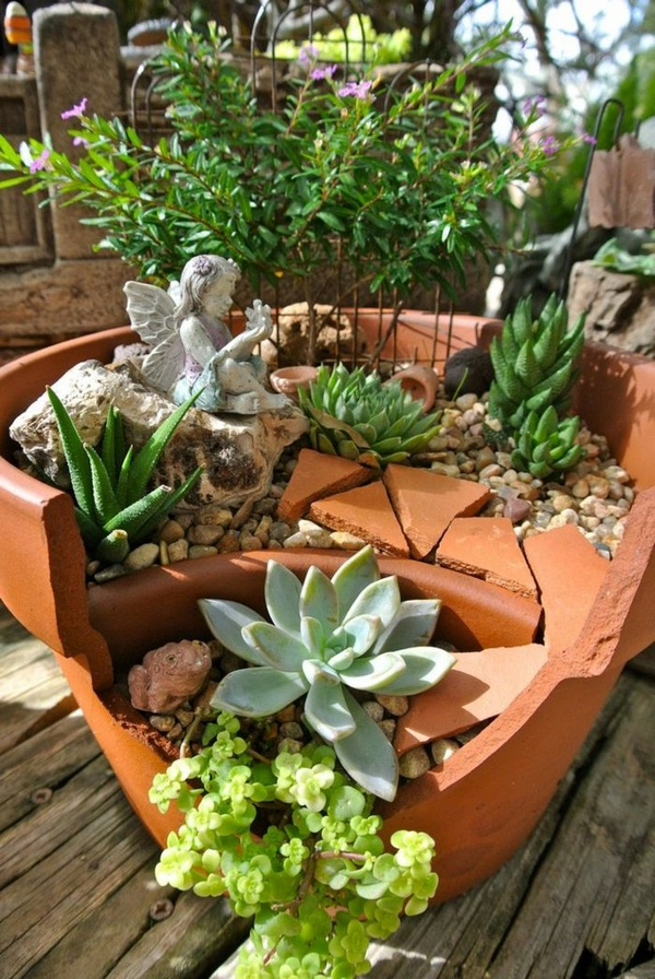 15 Fantastic Succulent Garden Ideas For Your Home on Tree Planting Ideas For Backyard id=15931