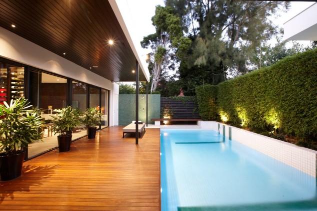 Diseño pequeña yarda piscina cubierta de la piscina 634x423 10+ Ideas para maravillosas piscinas Mini la natación en su patio trasero