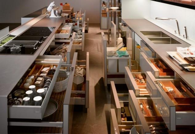 Cajones COCINA 1023543 634x436 17 Ideas creativas que pueden ayudarle a ahorrar algo de espacio en su cocina