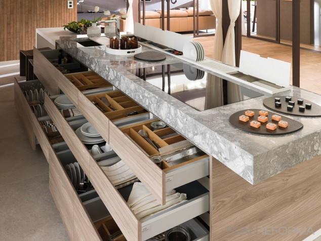 cocina contemporaneo pr 634x476 17 Ideas creativas que pueden ayudarle a ahorrar algo de espacio en su cocina
