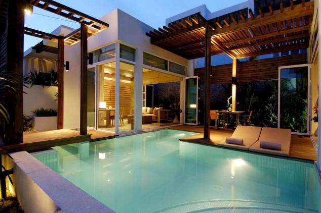 desain Piscina Se 634x422 10+ 4 Ideas para maravillosas piscinas Mini la natación en su patio trasero