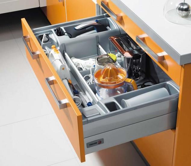 organización de ideas cocina drow 31 634x549 17 ideas creativas que te puede ayudar a ahorrar algo de espacio en su cocina