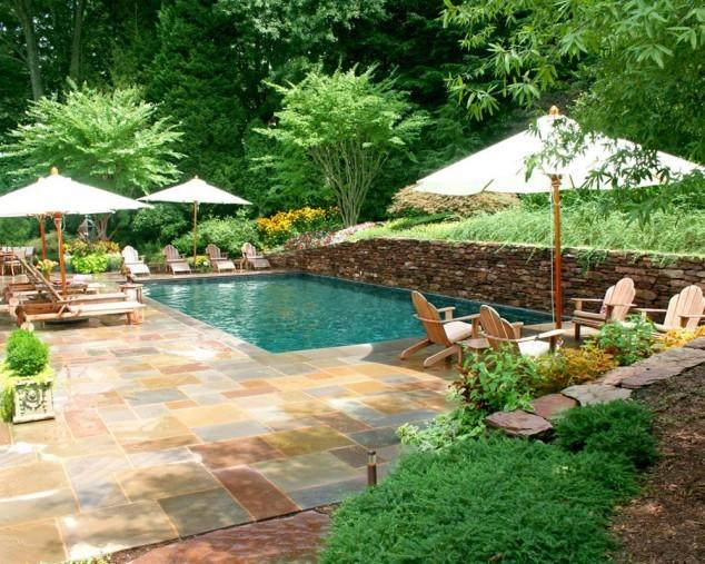natación ideas de diseño de la piscina y piscina paisajismo ideas de diseño de la piscina del paisaje 634x507 10+ Ideas para maravillosas piscinas Mini la natación en su patio trasero