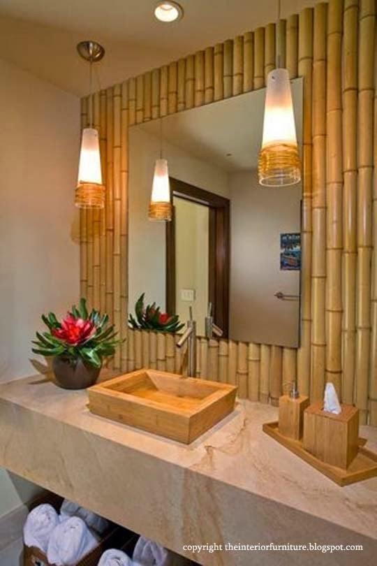 2013creatingbathroomnaturalshades2 16 adornos de bambú del árbol para la decoración del hogar de Thar son a la vez encantador y funcional