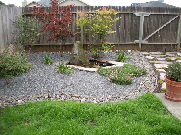 12 Attractive Garden Edging Ideas With River Stones That ... on Small Backyard Landscaping  id=67311